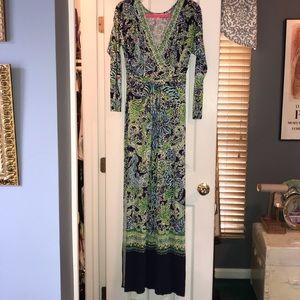 Lilly Pulitzer Riana L/S Maxi V-Neck Dress